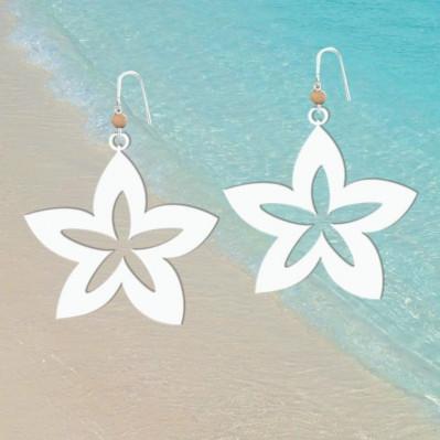 Boucles d'oreilles Fleur de Vanille
