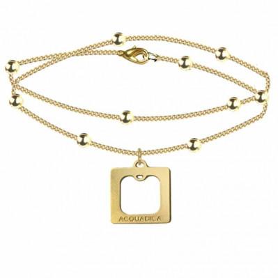 bracelet chaine square doré