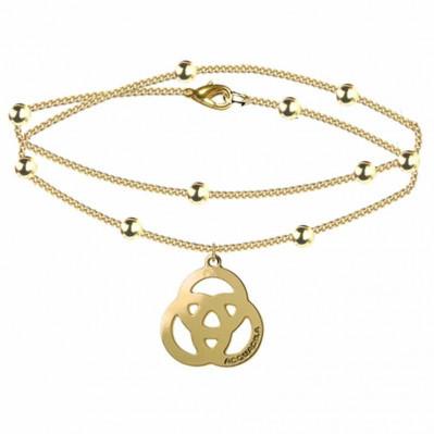 bracelet chaine trinity doré