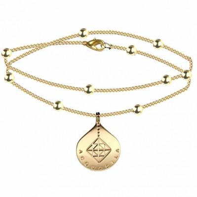 bracelet chaine goutte mia doré