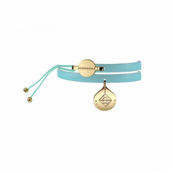 Bracelet jonc cuir Mia or