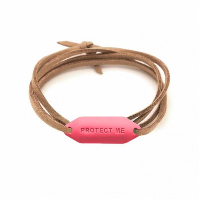 Bracelet pare-battage Protect Me corail
