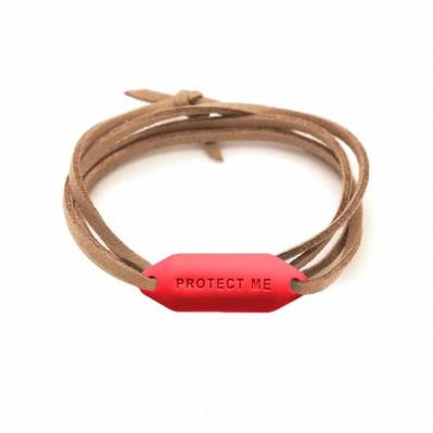 Bracelet pare-battage Protect Me rouge