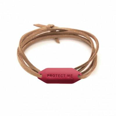 Bracelet pare-battage Protect Me grenat