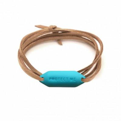 Bracelet pare-battage Protect Me turquoise