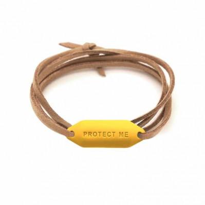 Bracelet pare-battage Protect Me jaune