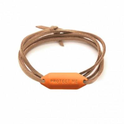 Bracelet pare-battage Protect Me orange