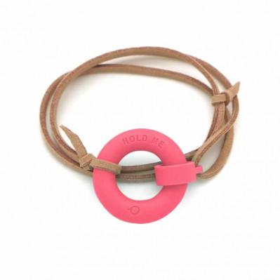 Bracelet d'été Bouée Hold Me corail