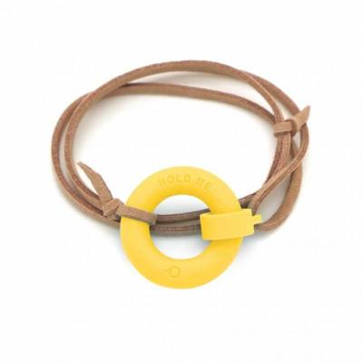 Bracelet d'été Bouée Hold Me jaune