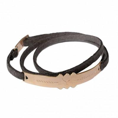 Bracelet lien trappeur plaqué or