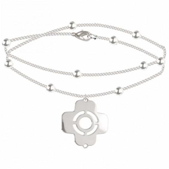 bracelet chaine croix grecque argent