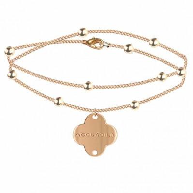 bracelet chaine nuage doré rose