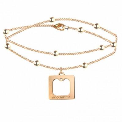 bracelet chaine square doré rose