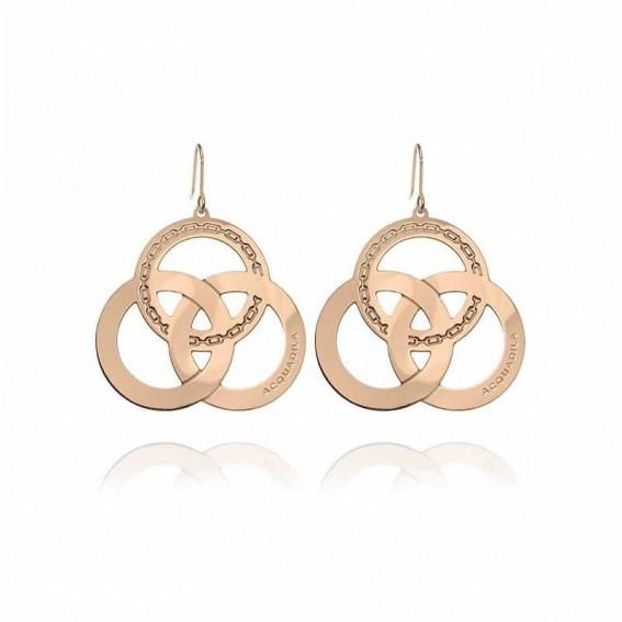 Boucle d'oreilles Trinity - doré rose