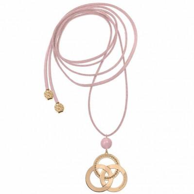 Sautoir lien Trinity argent doré ou rose