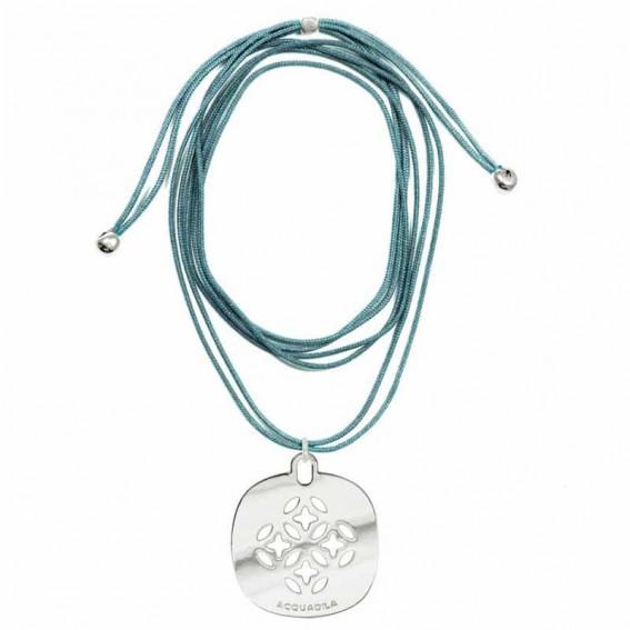 Tour de cou cordon Mandala argent