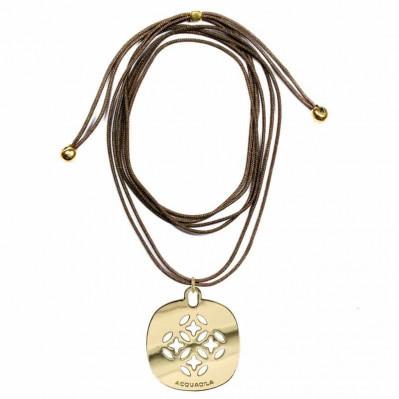 Tour de cou cordon Mandala or