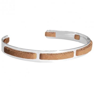 Bracelet homme argent Jonc seven tan