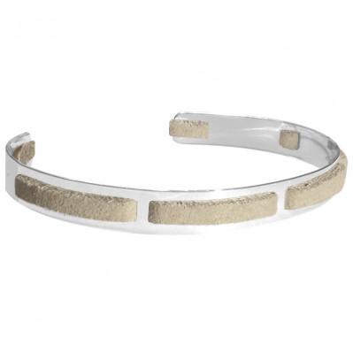 Bracelet homme argent Jonc seven sable