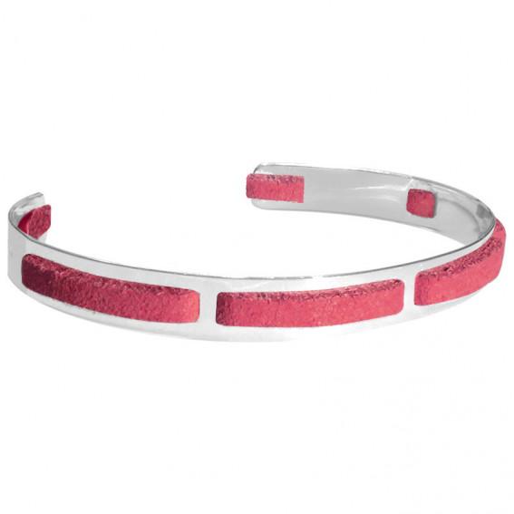 Bracelet homme argent Jonc seven corail