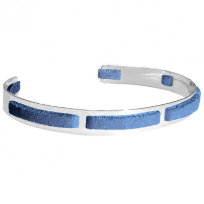 Bracelet homme argent Jonc seven indigo