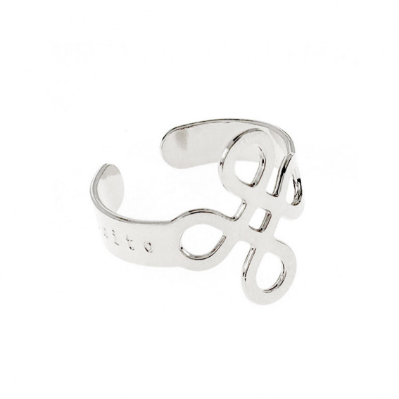 Bague Infinito argent