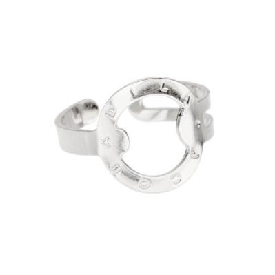 Bracelet lien trappeur plaqué argent