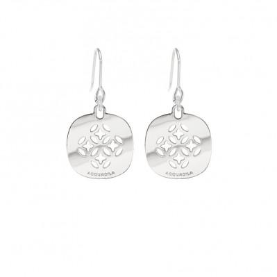 Boucles d'oreilles mini Mandala argent