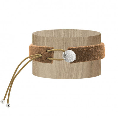 Bracelet daim naturel argent