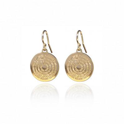 Boucles d'oreilles mini Mantra doré