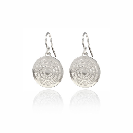 Boucles d'oreilles mini Mantra plaqué argent