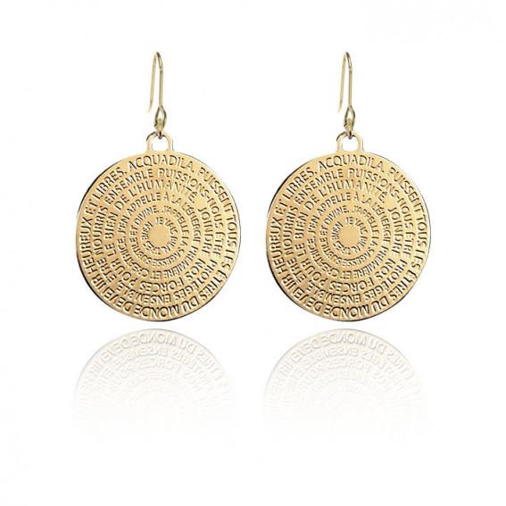 Boucles d'oreilles Mantra doré