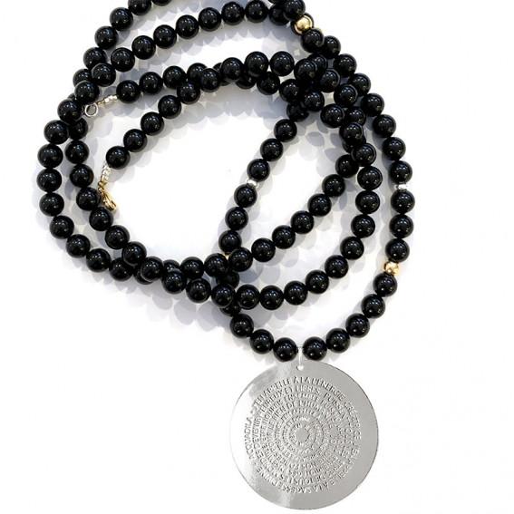 Sautoir perle de cristal Mantra or