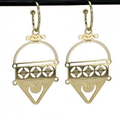 Boucles d'oreilles Talisman plaqué or