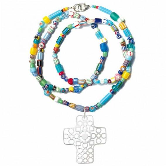 Sautoir Vagabond Multicolor Croix
