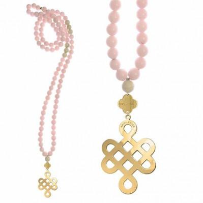 Rosaire Opium pierres agate roses doré