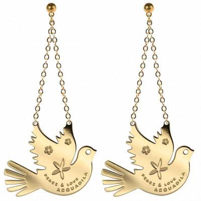 Boucle d'oreilles Peace Colombe - doré